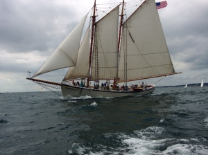 Schooner American Eagle preparing for Mayor's Race.