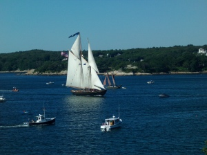 Knockabout Schooner Virginia at the parade of sail.